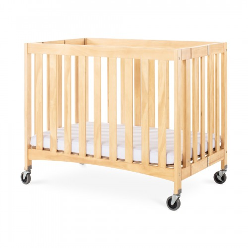 Wooden Folded Crib with mattress